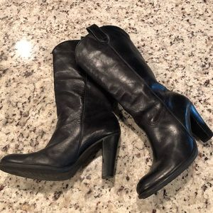 Mia Leather Boots Size 8.5 Calf Length Boots